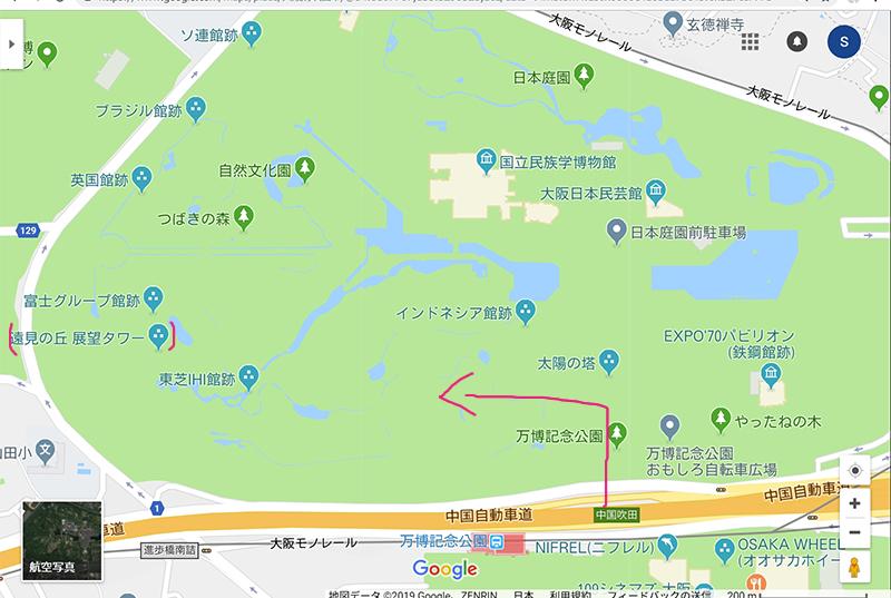 万博公園 地図